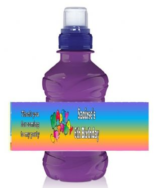 Rainbow Happy Birthday Bottle Label Wrapper